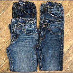 Boys Jeans- SET of 4 PAIRS! Old Navy- sz. 10 Slim